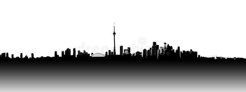 Toronto-Skyline panoramisch stock abbildung