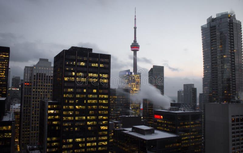 Toronto-Skyline vom Ontario See stockfotos