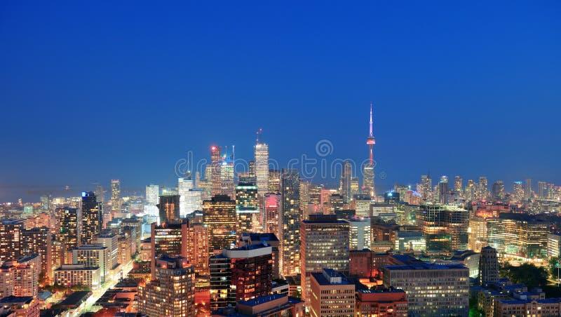 Toronto skymning arkivfoton