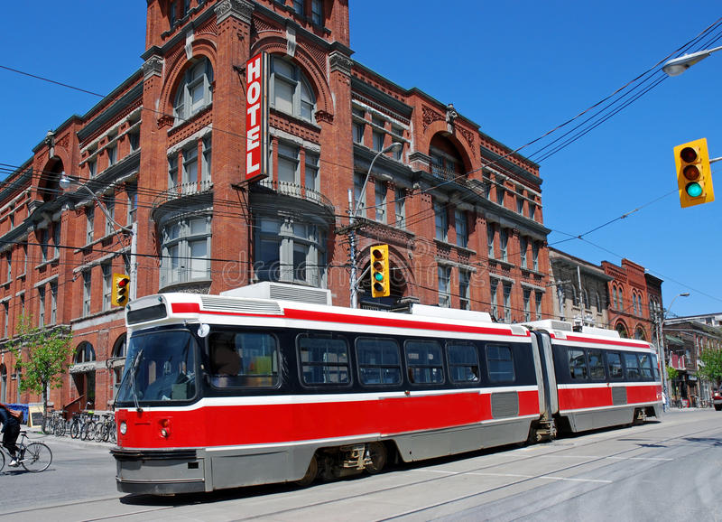 Toronto spårvagn fotografering för bildbyråer