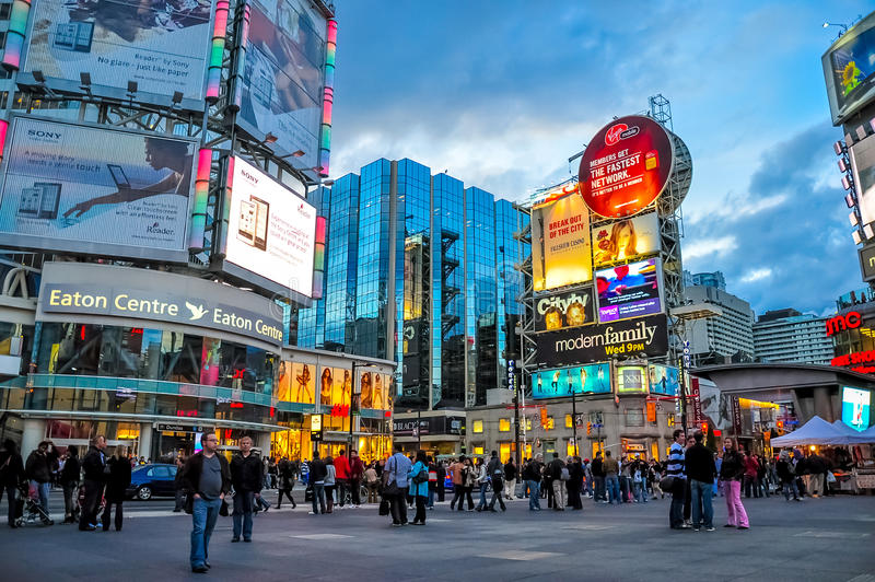 Toronto stad, Kanada royaltyfri fotografi