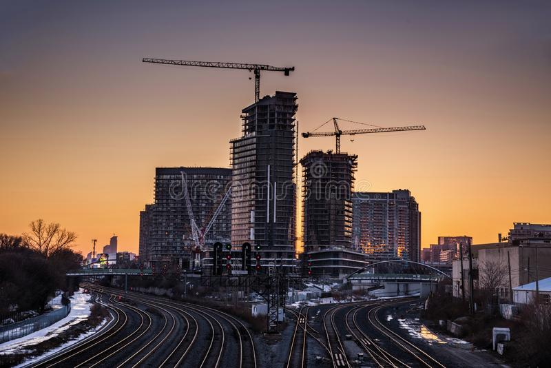 Toronto stadsplanering royaltyfria foton
