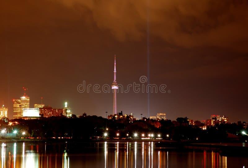 Toronto-Stadt-Skyline (Nacht) lizenzfreie stockfotografie