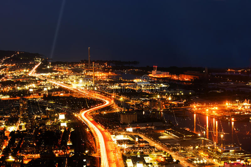 Toronto-Stadtansicht vom KN-Kontrollturm stockfoto