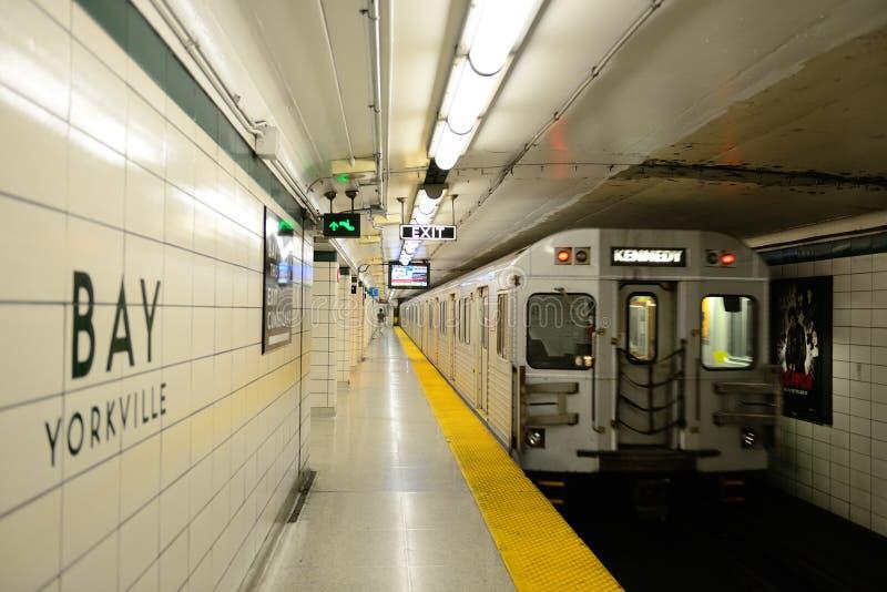 Toronto subway royalty free stock photo