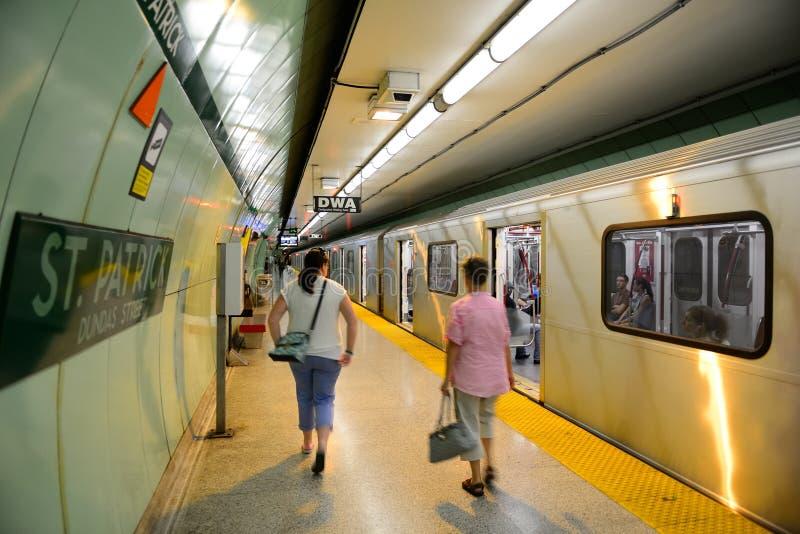 Toronto subway system stock images