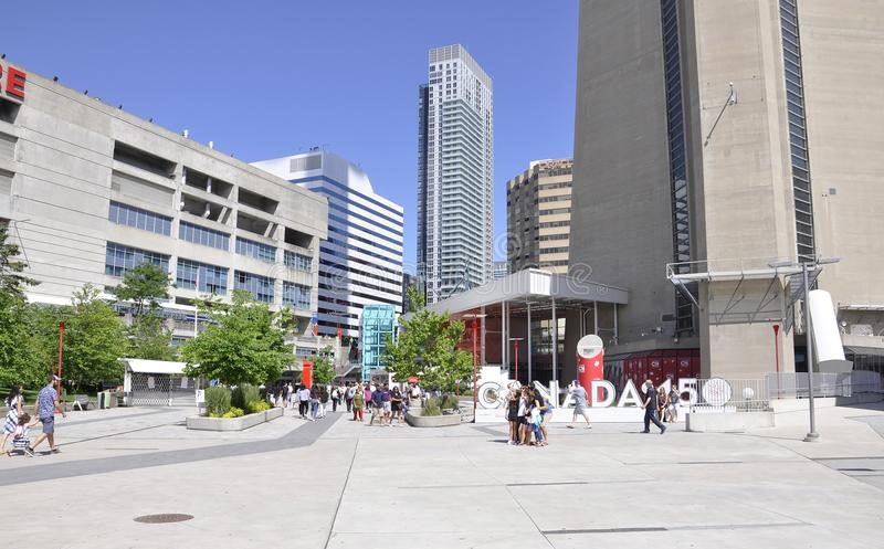 Toronto, 24th June: CN Tower Plaza from Toronto in Ontario Province Canada stock photography