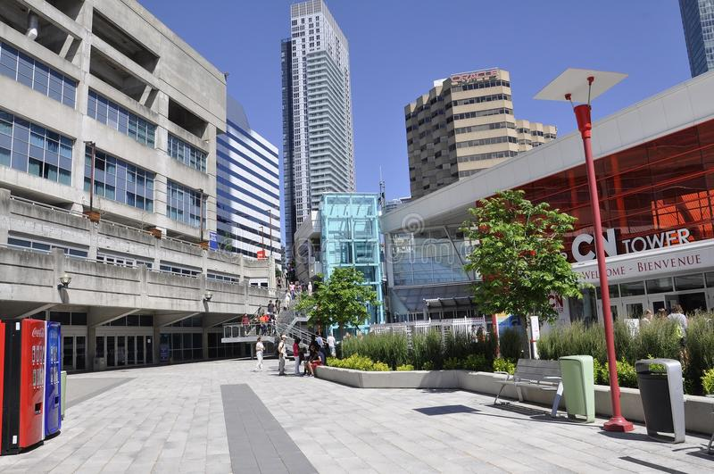 Toronto, 24th June: CN Tower Plaza from Toronto in Ontario Province Canada royalty free stock image