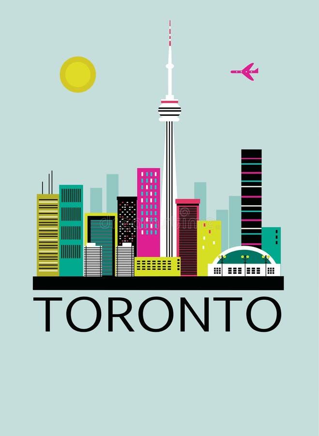 Toronto travel background royalty free illustration