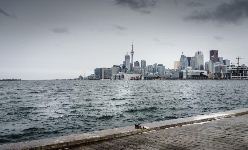 Toronto un jour froid d'hivers images stock