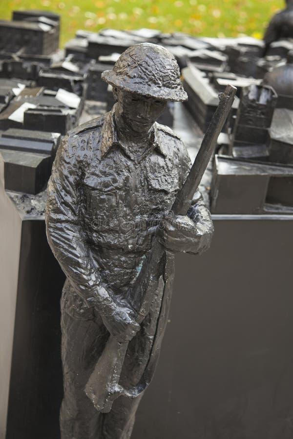 Toronto urząd miasta Upamiętnia Kanadyjskich żołnierzy w Włoskiej kampanii obraz stock
