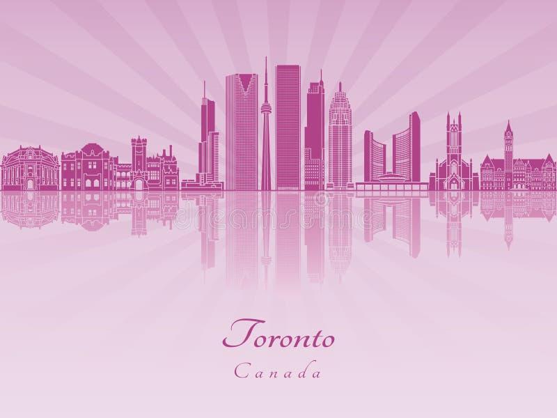 Toronto V2 linia horyzontu w purpurowej opromienionej orchidei ilustracji