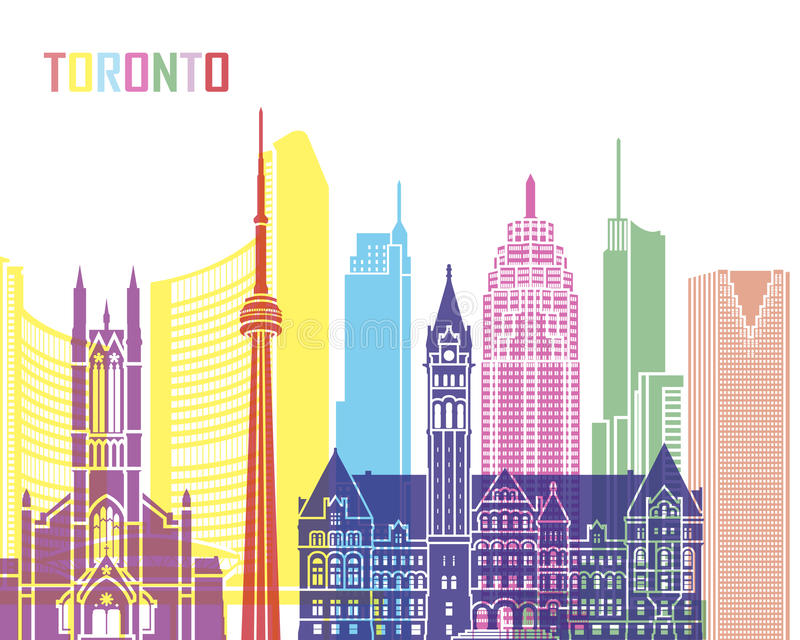 Toronto V2 skyline pop stock illustration