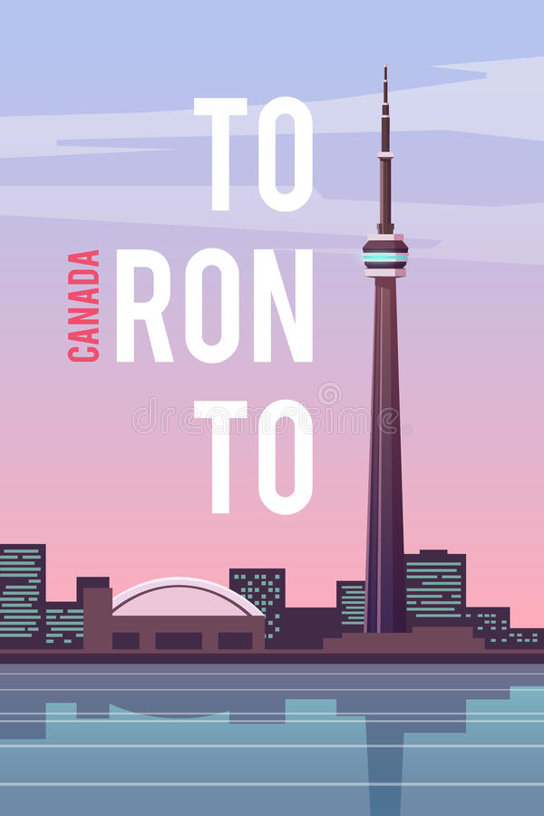 Toronto. Vector poster. royalty free illustration