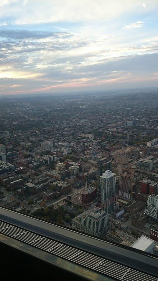 Toronto - vista da torre da NC imagem de stock