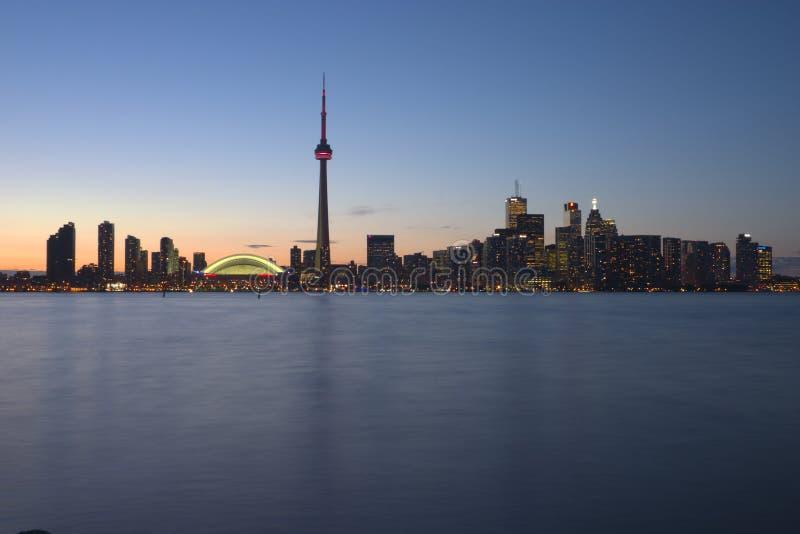 Toronto Waterfront at dusk royalty free stock photos