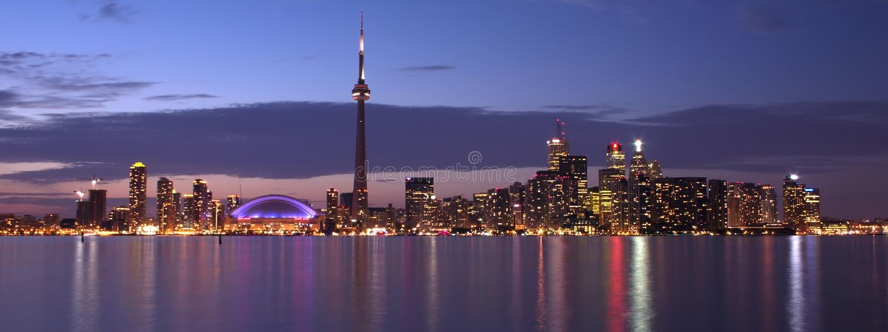 Toronto Waterfront panorama royalty free stock photo