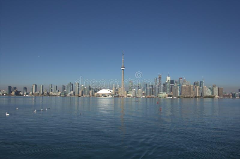 Toronto y lago Ontario foto de archivo
