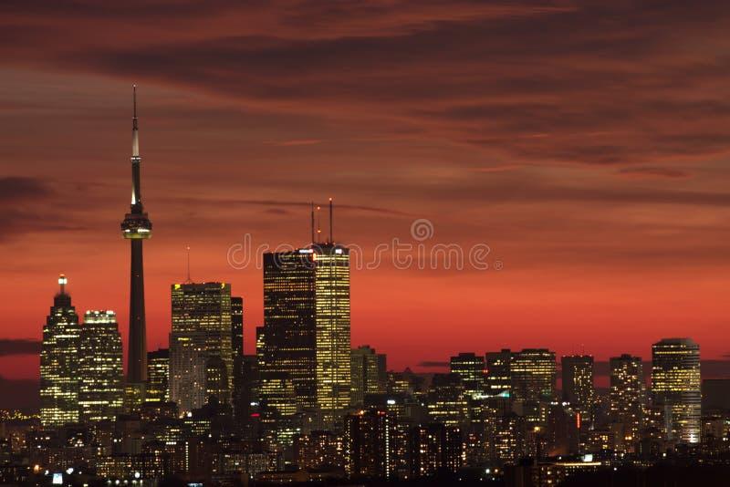 Toronto, zachód słońca zdjęcie royalty free