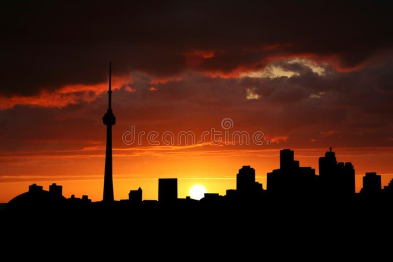 Toronto, zachód słońca ilustracji