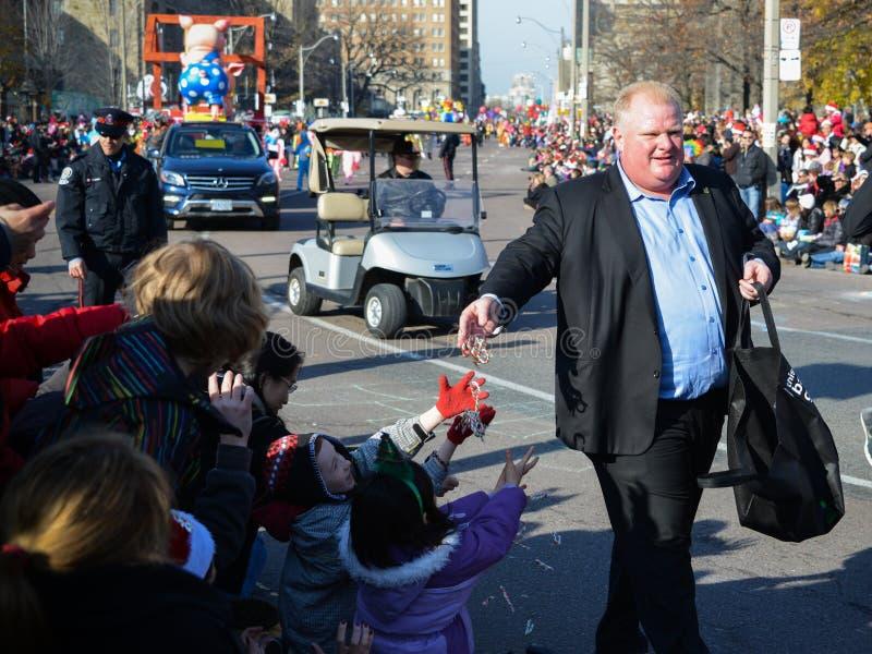 Torontos 108. Weihnachtsmann-Parade stockbilder