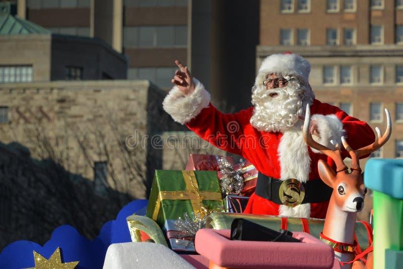 Torontos 108. Weihnachtsmann-Parade stockfotografie