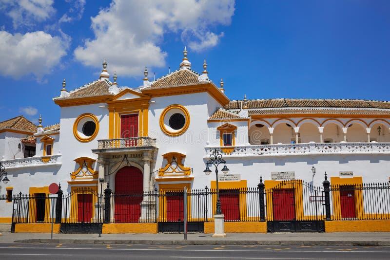 Toros Σεβίλλη plaza αρενών ταυρομαχίας της Σεβίλης Maestranza στοκ εικόνες με δικαίωμα ελεύθερης χρήσης