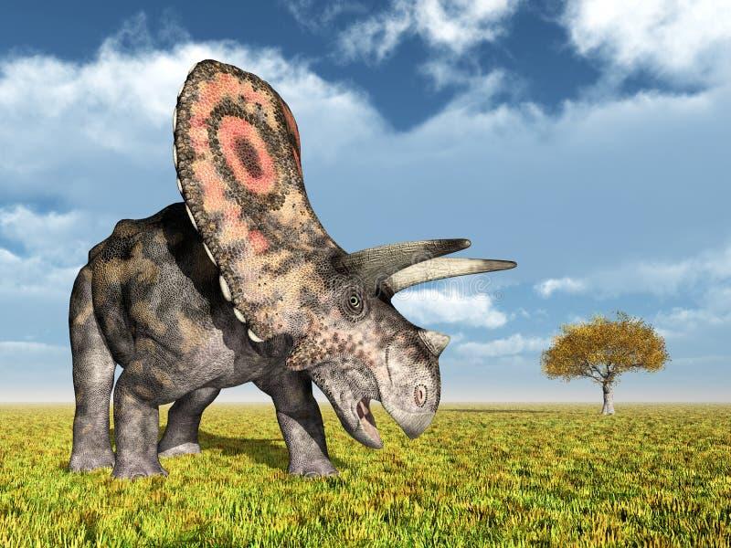 Torosaurus del dinosaurio stock de ilustración