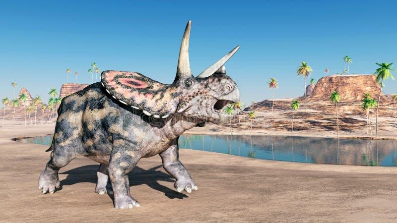 Torosaurus do dinossauro ilustração royalty free