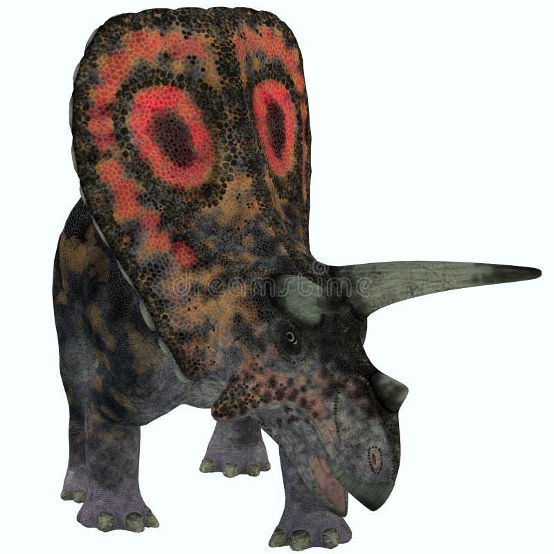 Torosaurus no branco ilustração do vetor