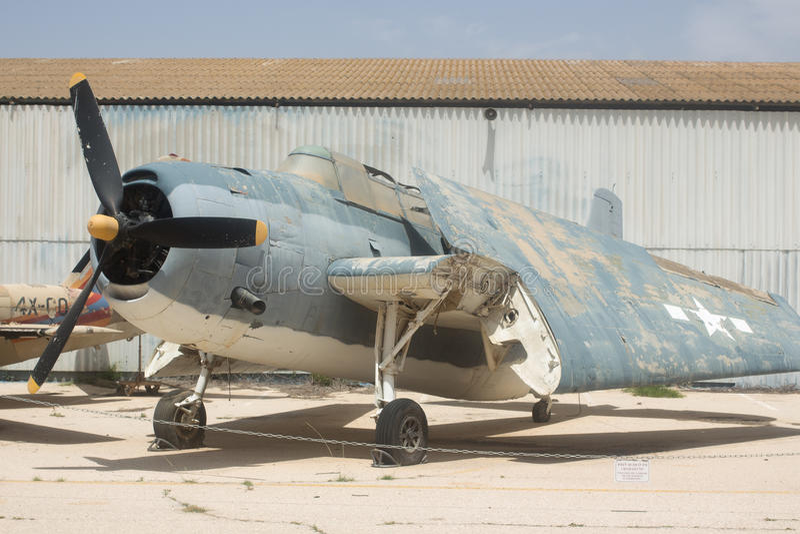 TorpedbombplanGrumman TBF hämnare royaltyfri bild