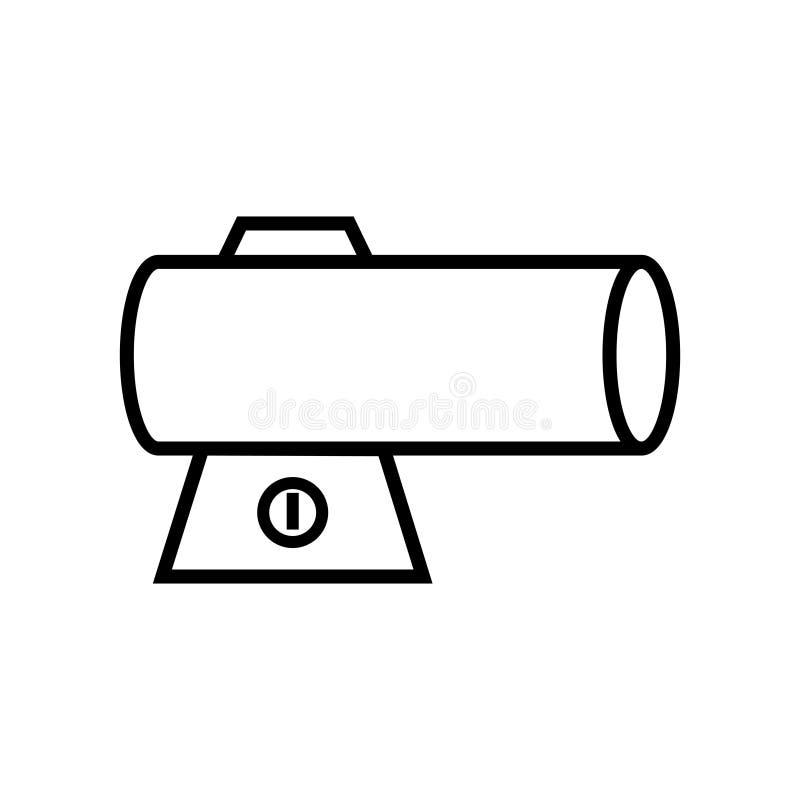 Torpedo-Heizungsikone lizenzfreie abbildung