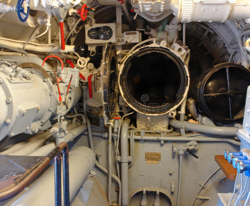 Torpedo Raum lizenzfreie stockbilder
