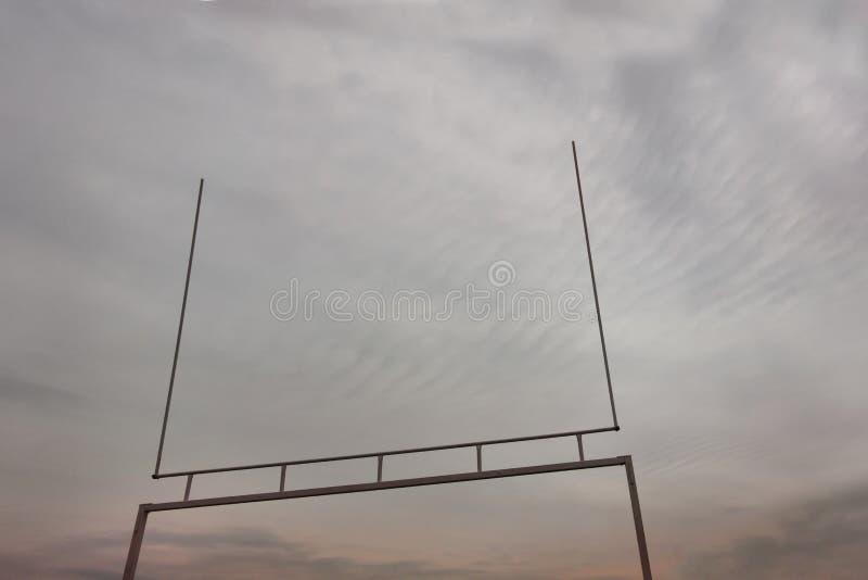 Torpfosten des amerikanischen Fußballs stockfotografie