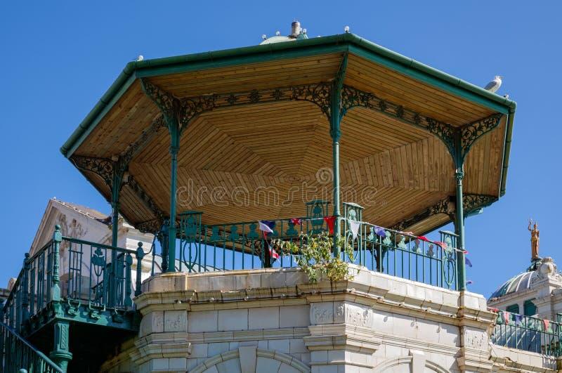 TORQUAY, DEVON/UK - 28. JULI: Der Pavillon in Prinzessin Gardens I lizenzfreies stockfoto