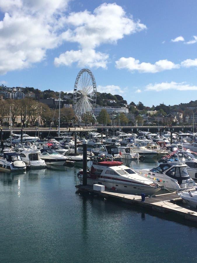 Torquay-Hafen lizenzfreies stockbild