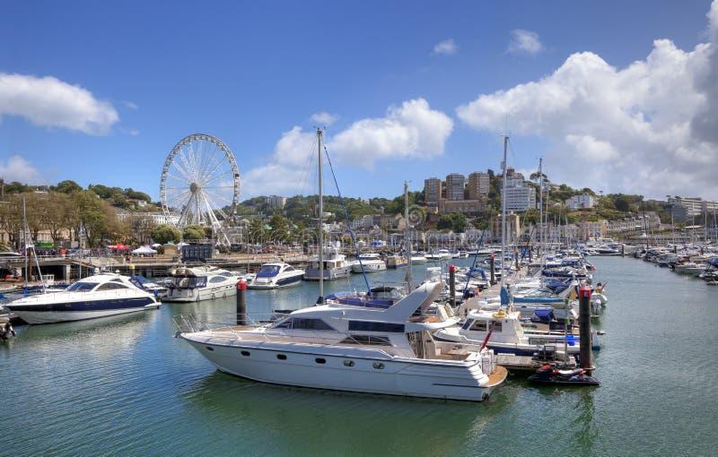 Torquay-Hafen, Devon lizenzfreies stockbild