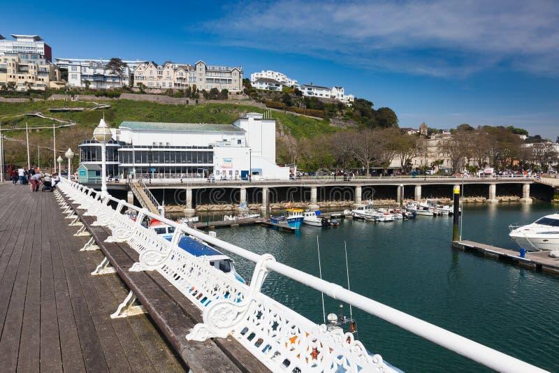 Torquay hamn & Marina Devon England UK royaltyfri fotografi