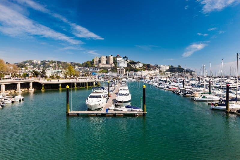 Torquay hamn & Marina Devon England UK arkivbilder