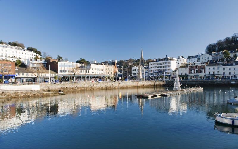 Torquay-innerer Hafen lizenzfreie stockbilder