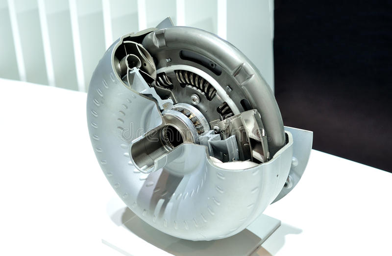 Torque converter cross section. royalty free stock image
