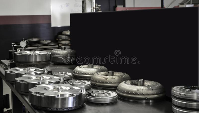 Torque Conveters with Blackboard Display Four stock photos