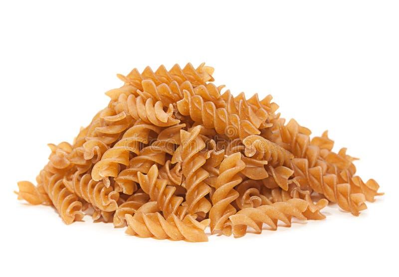 Torr pasta för bovetespiral arkivfoto