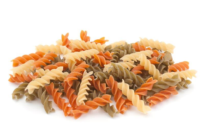 Torr pasta för färgvirvel royaltyfria bilder