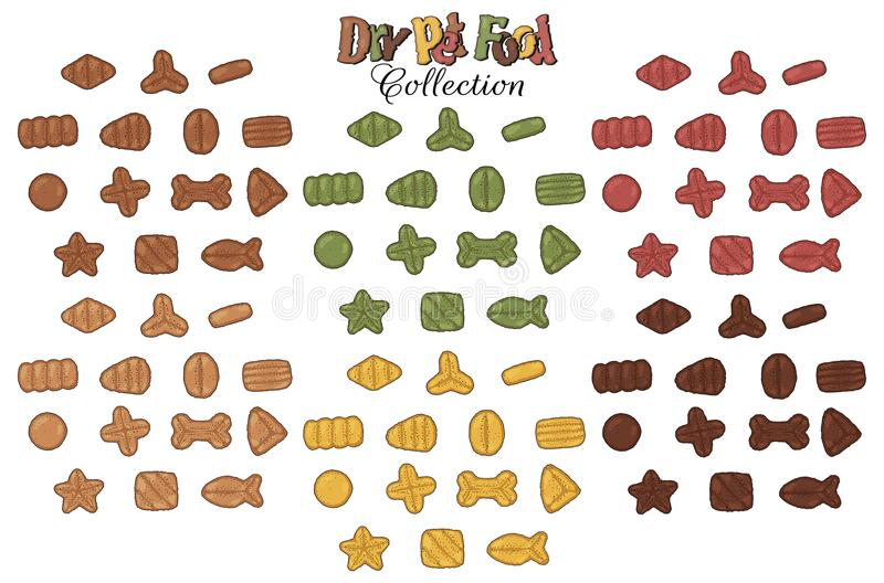 Torr samling för älsklings- mat stock illustrationer