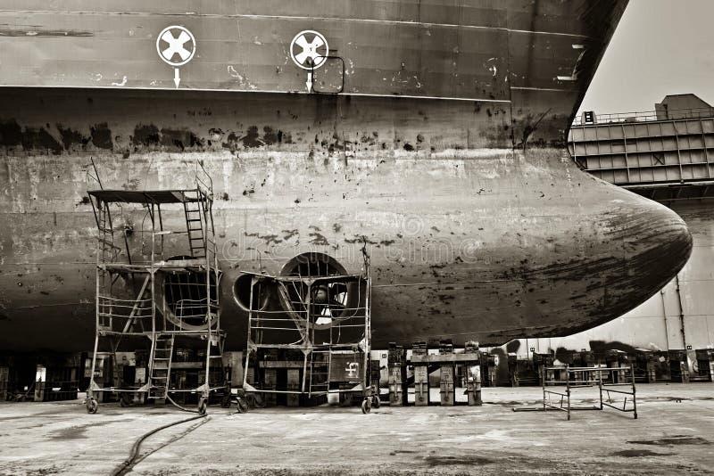 Torr skeppsdocka Skeppro-ro royaltyfria foton