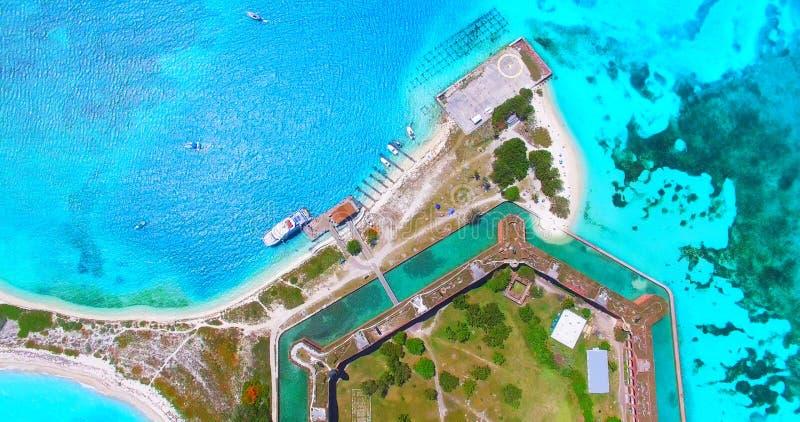 Torr Tortugas nationalpark, fort Jefferson Florida USA fotografering för bildbyråer