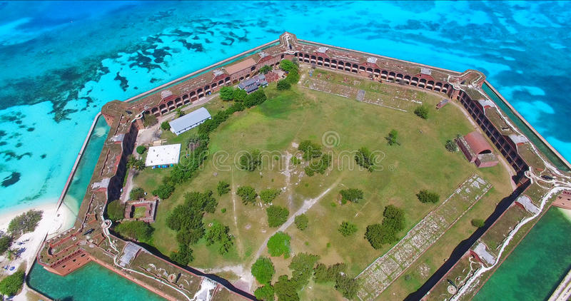 Torr Tortugas nationalpark, fort Jefferson Florida USA royaltyfri foto