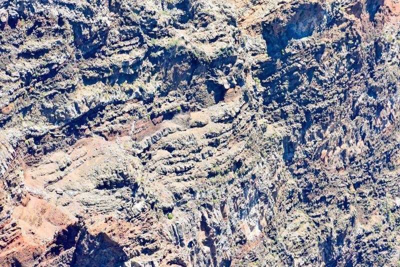 Torra Lava Basaltic Rock arkivbild