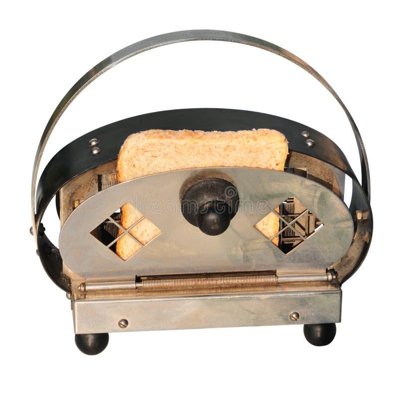 Torradeira retro com pão imagem de stock royalty free